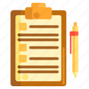 briefing, checklist, note, project, project brief, project briefing icon