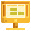 grid, layout, prototype, prototyping, web, web development icon
