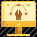 digital art, illustration, illustrator, pen tool, vector icon