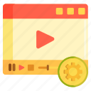 media, media player, video, video player icon