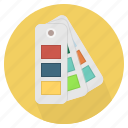 color chart, colored, combination, comparison, reference, sample, swatch book icon