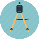 compass, divider, drawing tool, geometry, instrument, legs, measure icon