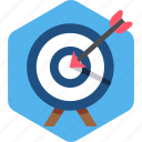 aim, ambition, goal, objective, shoot, target icon