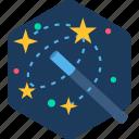 creative, creativity, design, magic, magical, stick icon