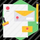 document, email, envelope, letter, sheet, writing