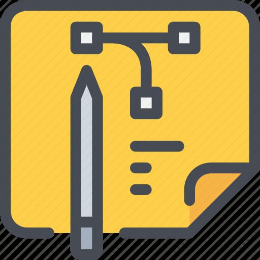 art, creative, design, graphic, pencil, planning icon