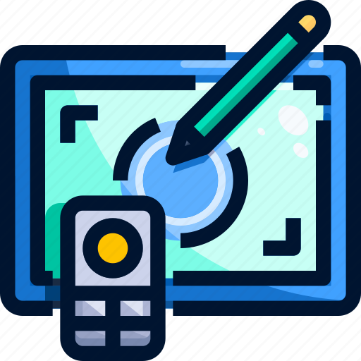 Digital art, equipment, graphic, tablet, tool icon - Download on Iconfinder