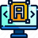 app, computer, edit, editor, typography icon