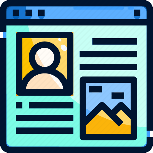 Blog, content, layout, ui, website icon - Download on Iconfinder