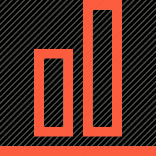 align, blocks, bottom, compare, design, function icon