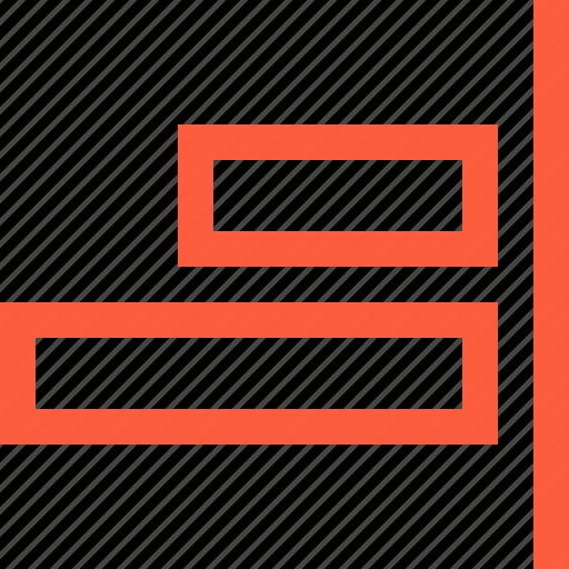 align, blocks, command, design, function, right icon
