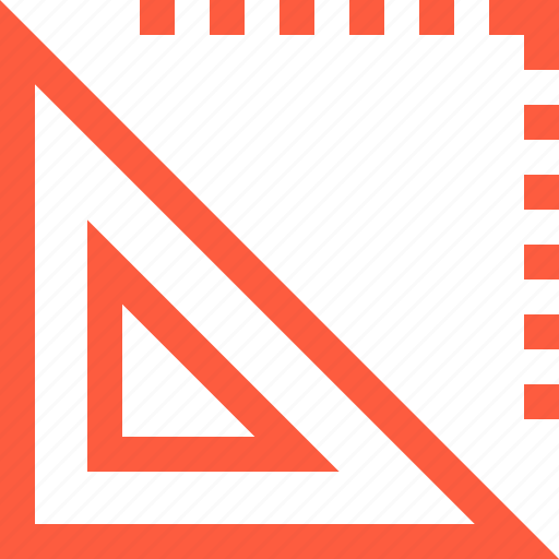 design, geometry, instrument, interface, ruler, tool, triangle icon