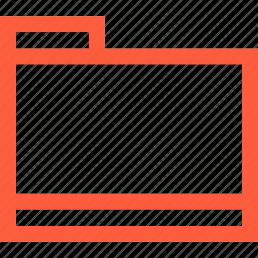 brief, directory, document, dossier, file, folder icon