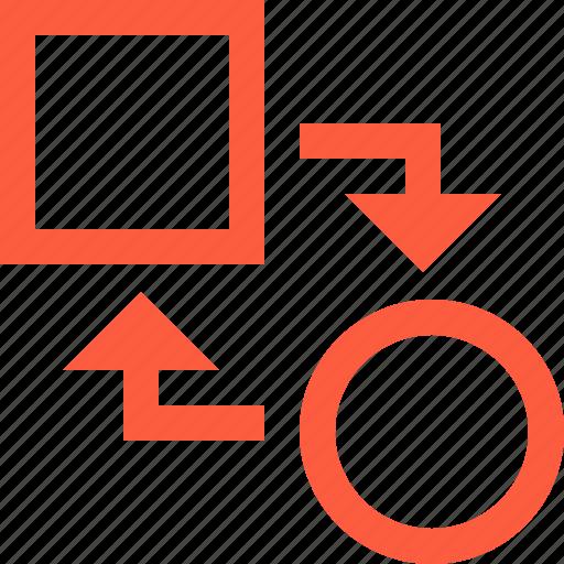 change, conversion, form, reshape, shape, transform icon