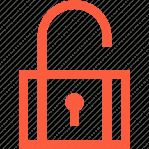 code, open, padlock, password, security, unlock icon