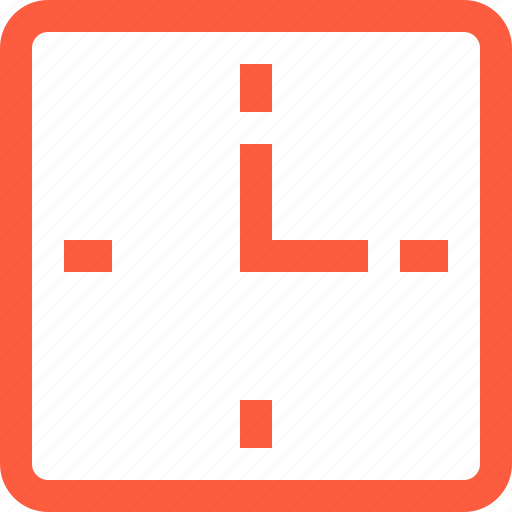 clock, deadline, square, time, timer, timing, watch icon