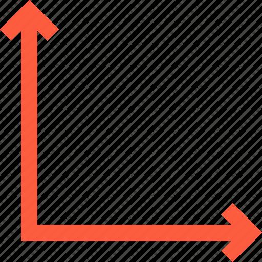 area, arrows, axis, coordinates, direction icon