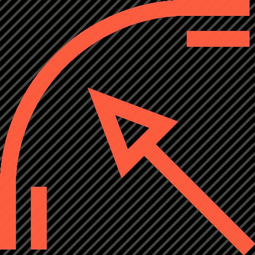bend, change, corner, curve, design, direction, path icon