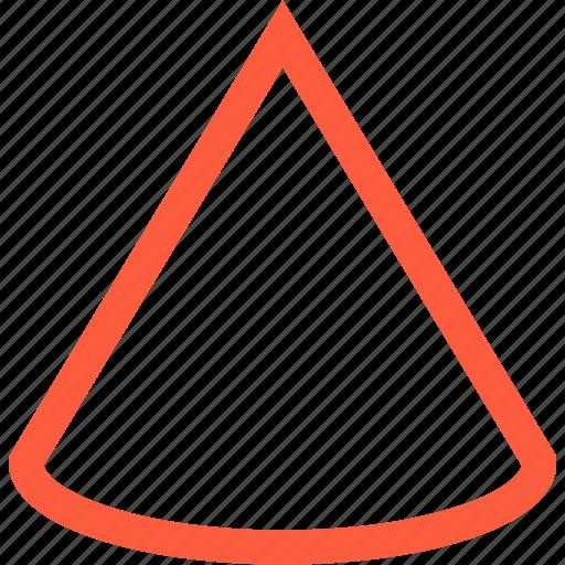 cone, figure, form, geometric, shape icon