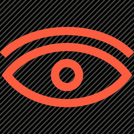 eye, insight, look, oculus, optic, surveillance, vision icon