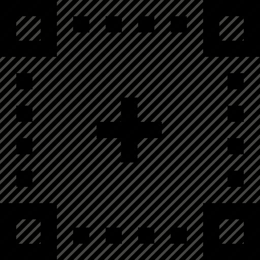 crop, draw, select, shape, software, transform icon