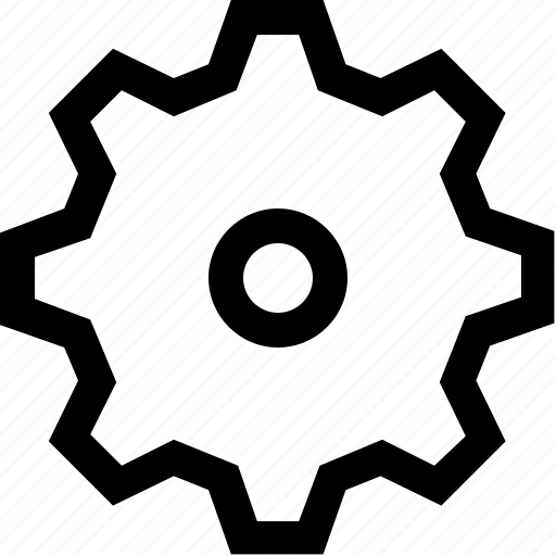 cog, gear, wheel, work icon