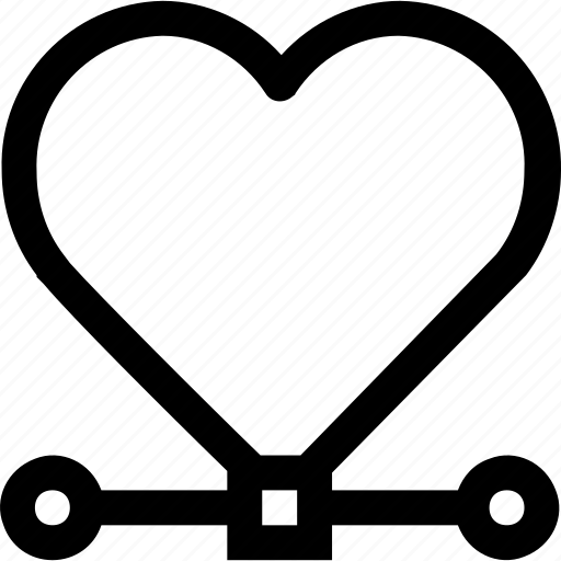 draw, heart, illustration, select, software, user icon
