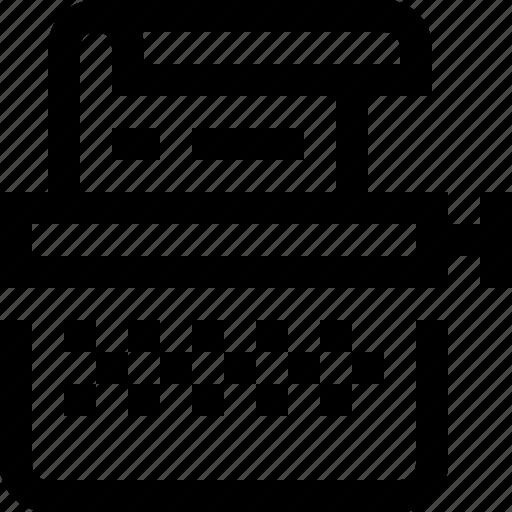 copywriter, keys, note, take, text, typewriter icon