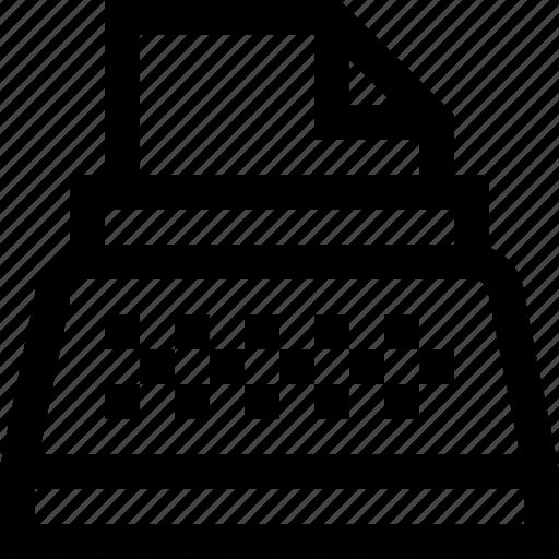 line, mini, typewriter icon