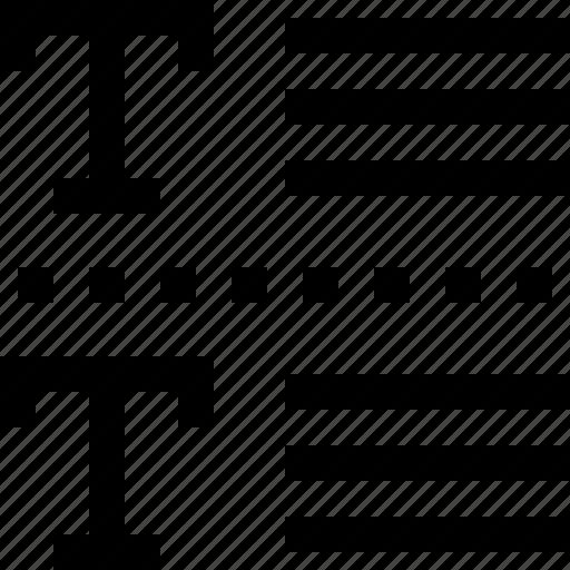 line, mini, text icon