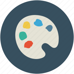 color palette, colors, creative, design, palette icon