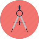 compass tool, design, drafting, drawing, geometry, graphic icon