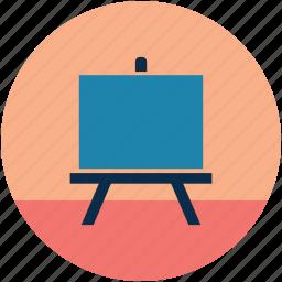 chalkboard, class board, dry erase board, lecture board, markerboard, whiteboard icon