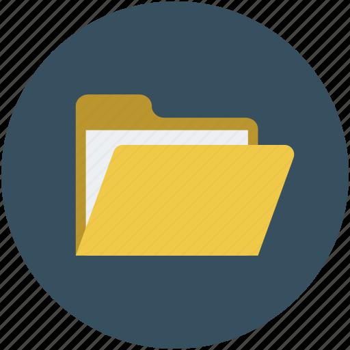 directory, documents, file, file folder, folder, open file icon