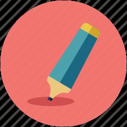 bold marker, color marker, highlighter marker, marker, pointer icon
