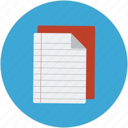copy, notebook, notepad, paper pad, steno book, writing book icon