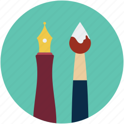 art, color, design, draw, pencil, pencil and brush, pencils icon