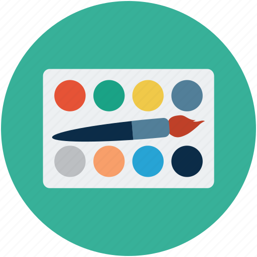 color palette, colors, creative, design, palette, palette with brush, palette with pencil icon