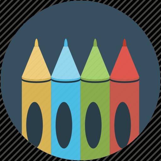 color, color pencils, design, draw, drawing pencils, pastels, pencils icon