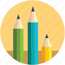bundle of pencils, color pencils, designing, pastels, pencils icon