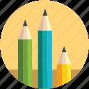 bundle of pencils, color pencils, designing, pastels, pencils