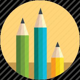 bundle of pencils, color pencils, designing, pastels, pencils icon
