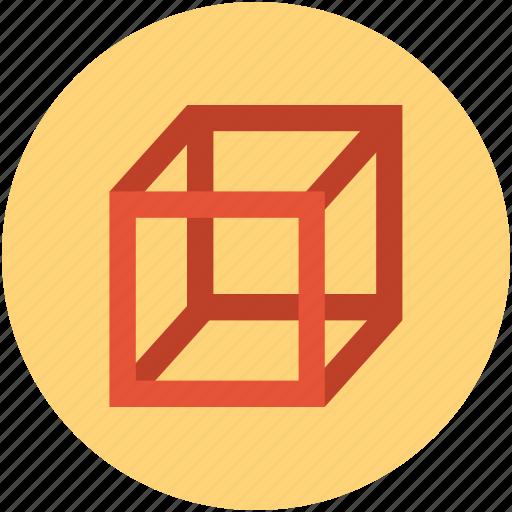box, ccube shape, cube, design, graphic icon