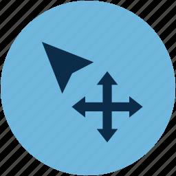 arrow, control, cursor, cursor tool, drag, mouse cursor, mouse hover, move icon