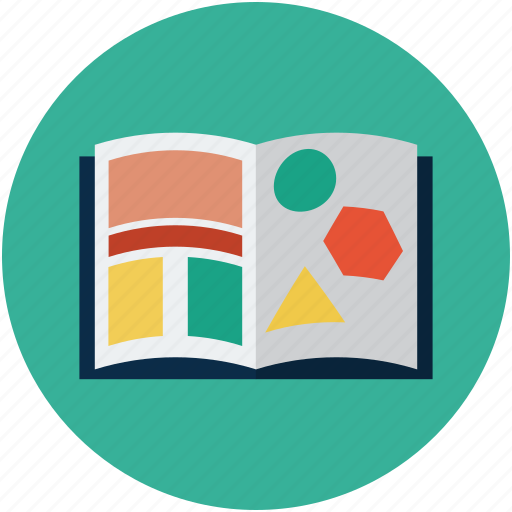 art book, art copy, art notepad, cover book, design book, design guide book icon