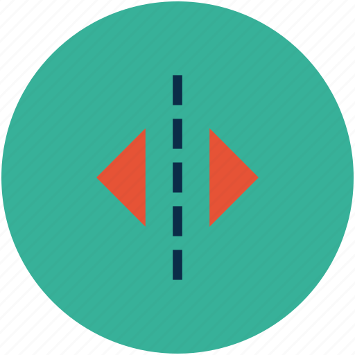 arrow, direction, divide, divided tool, double, expand, parting, split icon
