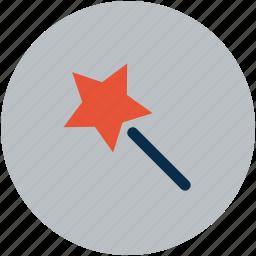 christmas, magic wand, prize, star, star stick, stick, xmas icon