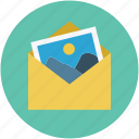 email picture, gallery, images, picture, pictures in envelope