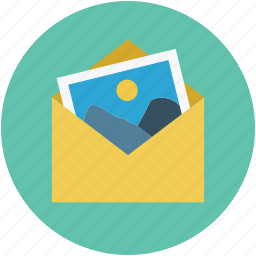 email picture, gallery, images, picture, pictures in envelope icon