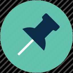 clip pin, connect pin, fix, location, paper pin, tack pin icon